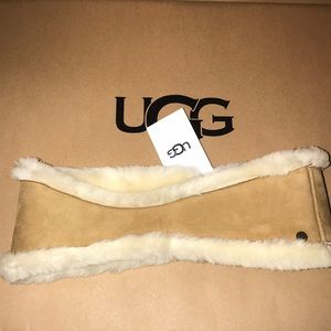 Women's sheepskin reversible headband L/XL